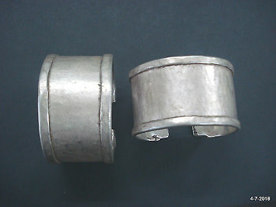 ancient antique tribal old silver bracelet bangle cuff pair gypsy jewellery