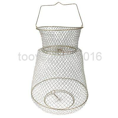 Foldable Metal Wire Spring Fish Lobster Mesh Fishing Net Crab Fish Keep Net