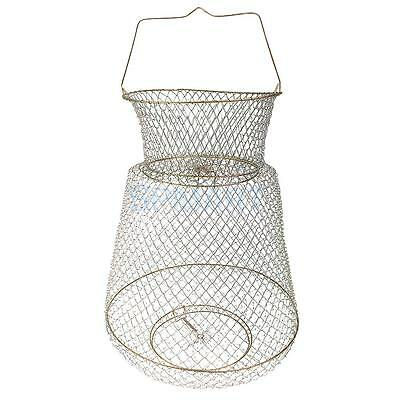 Foldable Metal Wire Spring Fish Lobster Mesh Fishing Net Crab Fish Cage Trap