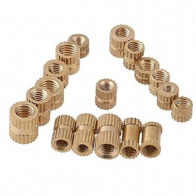 Brass Solid Knurled Nuts Thumb Nuts Insert Embedded Nuts M4 M5 M6 M8