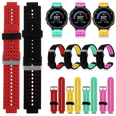 Soft Silicone Replacement Strap Watch Band for Garmin Forerunner 230/235/630
