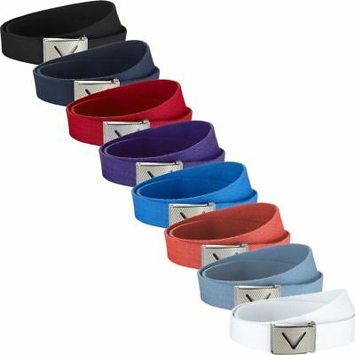 Callaway Webbed Commodity Chev Logo Cotton Funky Mens Golf Belt - One Size