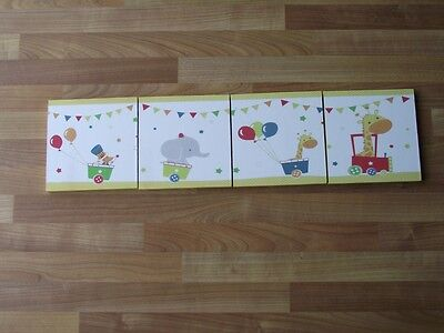 Little Circus Canvas Wall Art Plaques/pictures Set- Free Postage