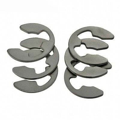 Stainless Steel E-Clip Snap Ring Circlip GB896 Φ1.5-2-3-3.5-4-5-6-7-8-9-10-15