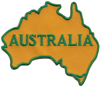 Australia Flag Country Desert Outline Embroidered Patch Badge