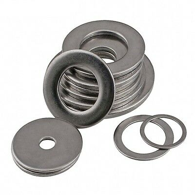 Steel Flat Washers To Fit Metric Bolts & Screws M1.6 To M30 A2 304 Stainless