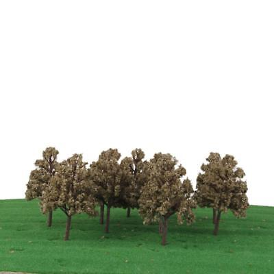10 pcs Cypress Model Trees 1:100 HO OO Scale Building Park Diorama Scenery