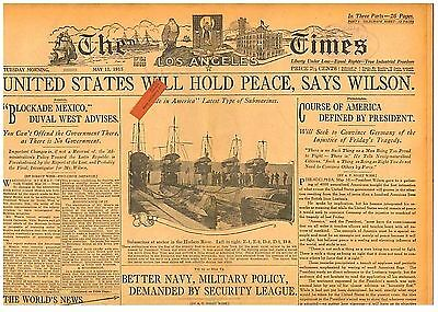 WWI Lusitania Germany May 11 1915 USA Hold for Peace Wilson No War Over Sinking