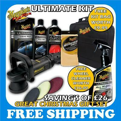 New 2016 Meguiars MT320 Dual Action Machine Ultimate Kit Liquid Wax Compound