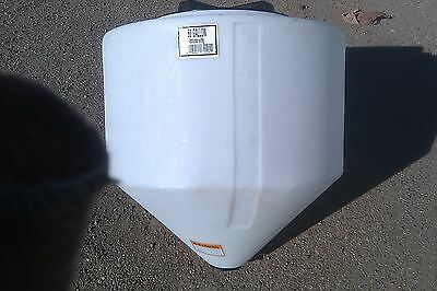 """60 gallon cone bottom tank only 31"""" X 32""""  NO STAND Norwesco"""