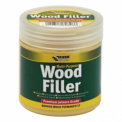EVERBUILD MULTI PURPOSE WOOD FILLER JOINERS GRADE  250ml VARIOUS COLOURS