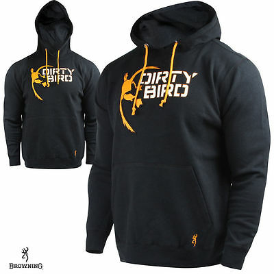 Browning Buckmark Dirty Bird OldSquaw Hunting Hoodie Size Multiple Black/Apricot