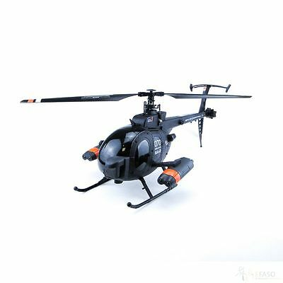 RC Helikopter FX070c FBL Hunting Sky,  Single 4 CH, 2,4 GHz, Militär Helikopter