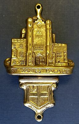 Vintage 'ST JAMES'S PALACE' Brass Cottage Door Knocker from England