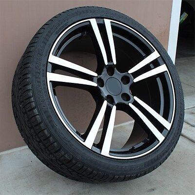 """(4) 22"""" 22x10 5X130 TURBO STYLE WHEELS & TIRES PACKAGE PORSCHE CAYENNE SET OF 4"""
