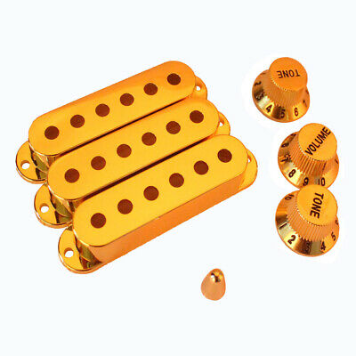 Gold Plated Single Coil Pickup Cover Set for ocaster Fender  Guitar