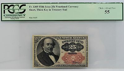 Fr. 1309 25 CENT FIFTH ISSUE FRACTIONAL CURRENCY PCGS CHOICE About New-55 5th