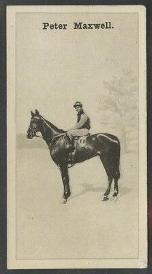 1928 W.D. & H.O. Wills New Zealand Race Horses #12 Peter Maxwell