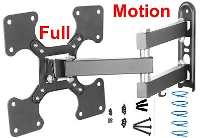 "FULL MOTION Corner TILT SWIVEL LED LCD TV WALL MOUNT BRACKET 24"" 27 32 37 39 40"""