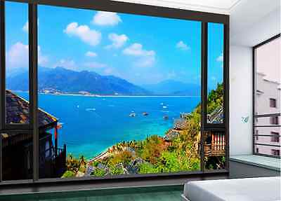 3D Large Cool Houseboat Wallpaper Decal Decor Home Kids Nursery Mural  Home