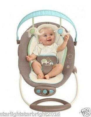 Baby Bouncer Newborn Infant Rocker Automatic Bouncing Melodies Sounds Toys Bar