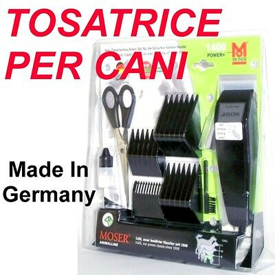 TOSATRICE MOSER 1400 Power+ per CANI Animali Made in Germany +50% Potenza