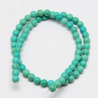 6mm Turquoise Beads, Light Sea Green Approx 67pcs