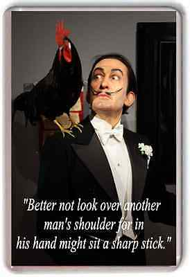 Extra Large Quote Quotation Salvador Dali warning funny Art Artist fridge magnet