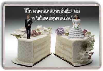Large Quote Quotation marriage love friendship husband wife fridge magnet