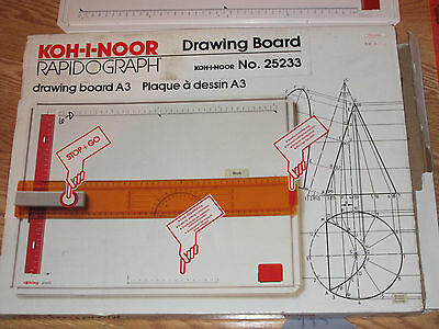 koh-i-noor rapidograph 25233 drawing board A3