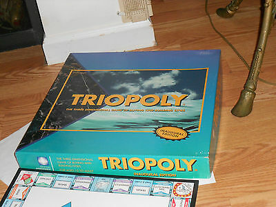 TRIOPOLY  3-D Board Game of Buying & Building Cities Inaugural Ed