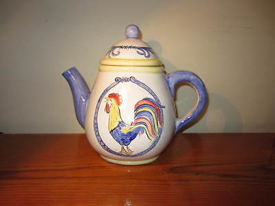 montclair rooster teapot wall hanging pocket ceramic