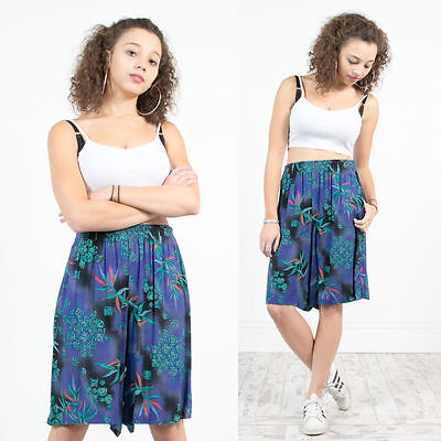 Womens Vintage 90's Abstract Pattern High Waist Shorts Culottes Nineties Rad 14