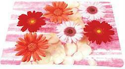 Computer Mousepad Mouse Mat Mice Pad Red Flowers 2