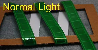 Deep Green gloss sew on REFLECTIVE TAPE PVC 3'x1""