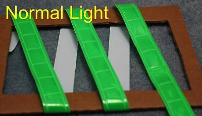 Light Green gloss sew on REFLECTIVE TAPE PVC 3'x1""