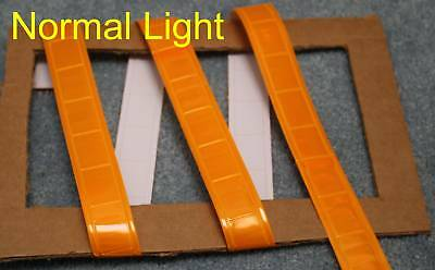 Yellowish Orange gloss sew on REFLECTIVE TAPE PVC 3'x1""