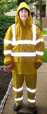 New Overall High Visibility Safety rain suit Reflective