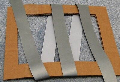 SILVER RETRO REFLECTIVE TAPE iron on trim3'x1""