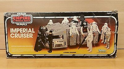 VINTAGE 1979 STAR WARS EMPIRE STRIKES BACK IMPERIAL CRUISER w BOX & INSTRUCTIONS