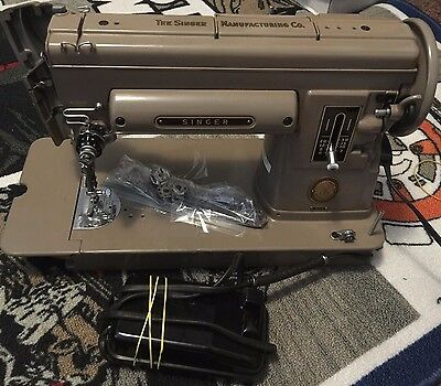 Vintage Singer 301A Sewing Machine with Pedal & Power- Working