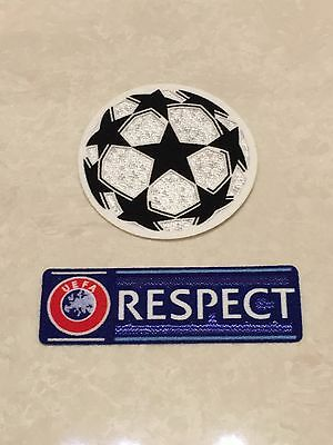 Set Of UCL UEFA Champions League Respect Star Ball Patch Badge Parche Flicken
