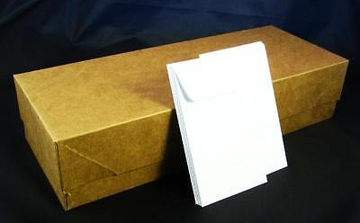 COIN ENVELOPE- New Box of 2,250 #3 White Acid Free 4 1/4 x 2 1/2 (4.25 x 2.5) in