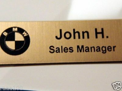 """10 Custom Engraved name tag Name plate 1"""" x 3"""" Magnet"""