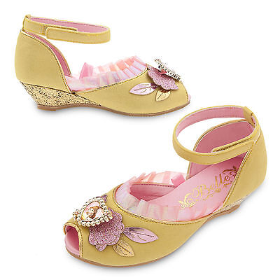 Disney Store Princess Belle Beauty & the Beast Costume Shoes Girls 7/8 9/10