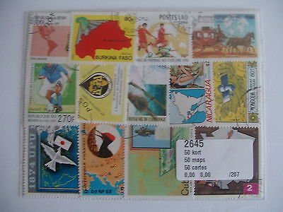 Lot Timbres Cartes Geographiques : 50 Timbres Tous Differents / Maps Stamps