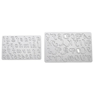 Letters Numbers Template Paper Cutting Dies DIY Card Album Decor Scrapbooking
