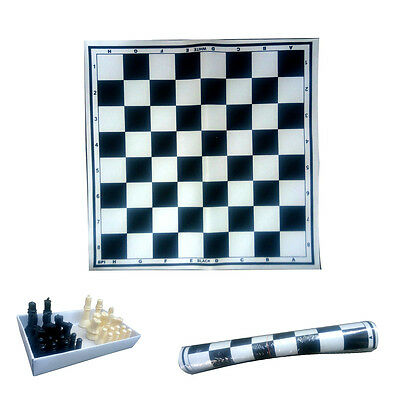 "Good Quality 18"" Vinyl Foldable ChessMat with Free Chess Coins - Chess Mat"