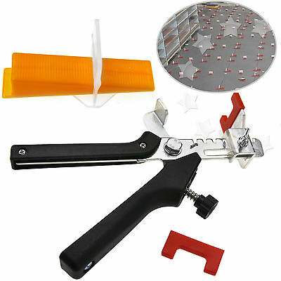 50pcs D Type Large Tile Flooring Wall Leveling Spacer System + Pliers Tool Set