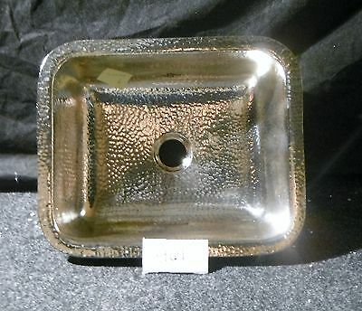 Hand Hammered Rectangle Nickel Plated Bar  Island  Sink #461